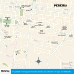 Travel map of Pereira, Colombia