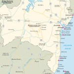 Travel map of Bahia, Brazil
