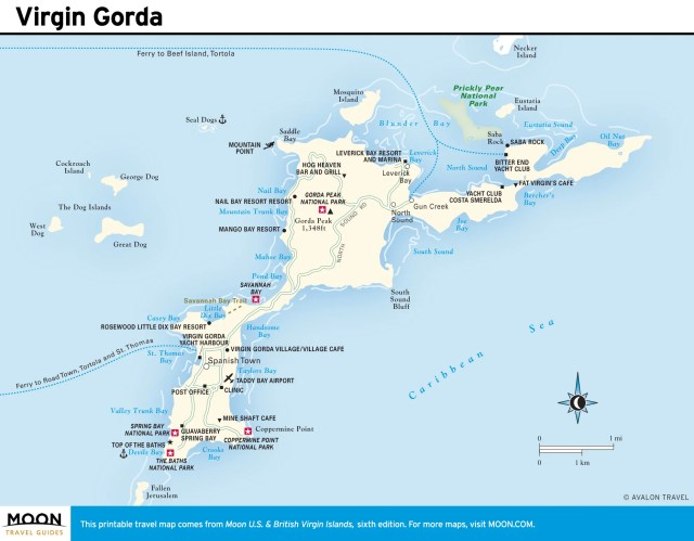 Travel map of Vrigin Gorda, Virgin Islands