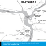 Map of Castlegar, BC