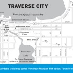 Travel map of Traverse City, Michigan