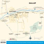 Travel map of Gallup, New Mexico