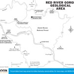 Map of Red River Gorge Geological Area, Kentucky