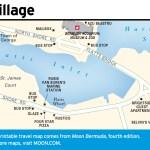 Travel map of Flatts Village, Bermuda
