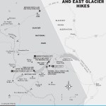 Travel map of Two Medicine and East Glacier Hikes
