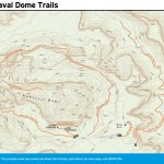 Trail map of Upheaval Dome Trails in Utah