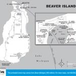 Travel map of Beaver Island, Michigan