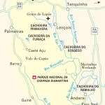 Travel map of Chapada Diamantina, Brazil