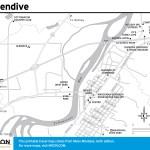 Travel map of Glendive, Montana
