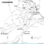 Map of Lynchburg, Virginia