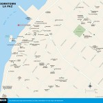 Map of Downtown La Paz, Mexico