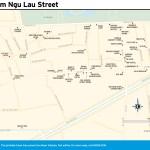 Travel map of Pham Ngu Lao Street in Ho Chi Minh City, Vietnam