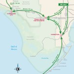 Travel map of Driving Distances to the Everglades, Florida