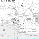 Map of Charlotte and Racing Country, North Carolina