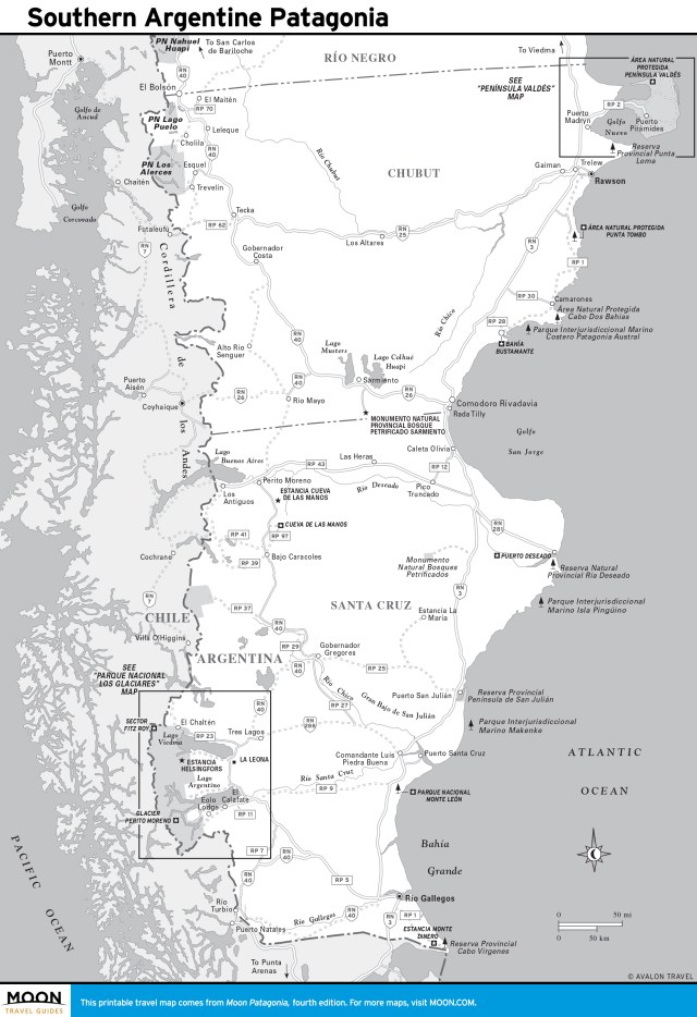 Maps - Patagonia 4e - Southern Argentine Patagonia, Argentina