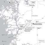 Travel map of Homosassa to Crystal River, Florida