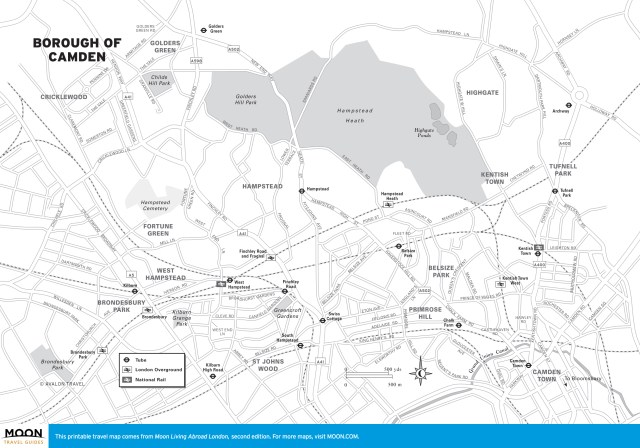 Travel map of Camden