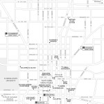 Travel map of Downtown Tallahassee, Florida