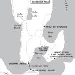 Travel map of Grand Island, Michigan