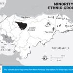 Map of Minority Ethnic Groups in Honduras