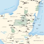 Map of Maya Archaeological Sites in Belize
