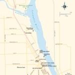 Travel map of Wenatchee, Washington