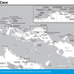 Travel map of Cayo Coco, Cuba