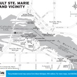 Travel map of Sault Ste. Marie, Michigan and Vicinity