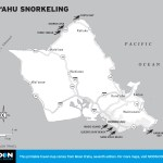 Map of O'ahu Snorkeling