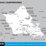 Map of O'ahu Campgrounds