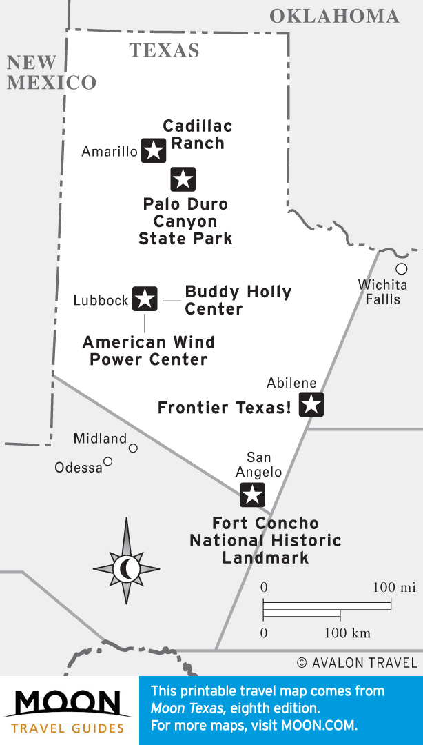 Map of Texas Panhandle Highlights