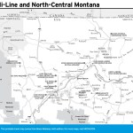 Travel map of The Hi-Line and North-Central Montana