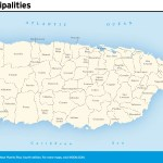 Travel map of Puerto Rico Municipalities