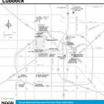 Travel map of Lubbock, Texas