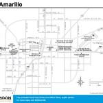 Travel map of Amarillo, Texas