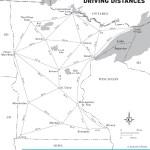 Travel map of Minnesota Driving Distances