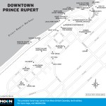Map of Downtown Prince Rupert, BC