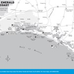 Travel map of The Emerald Coast of Florida
