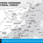 Map of Northern Cherokee National Forest, TN
