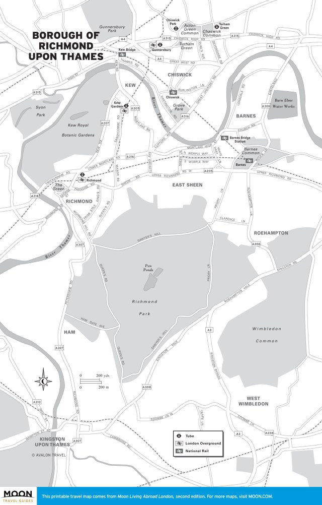 Travel map of Richmond upon Thames