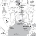 Travel map of Sebago and Long Lakes, Maine