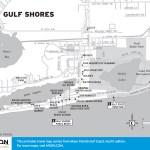 Travel map of Gulf Shores, Alabama