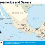 Travel map of Mesoamerica and Oaxaca
