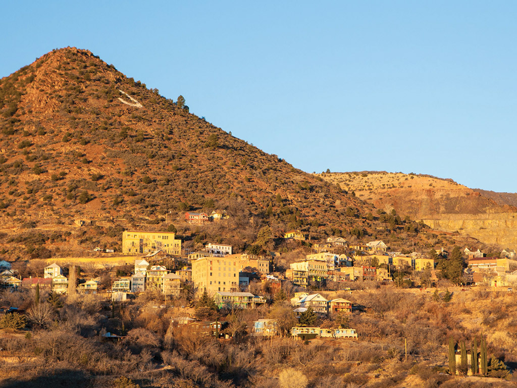 landscape view of Jerome Arizona