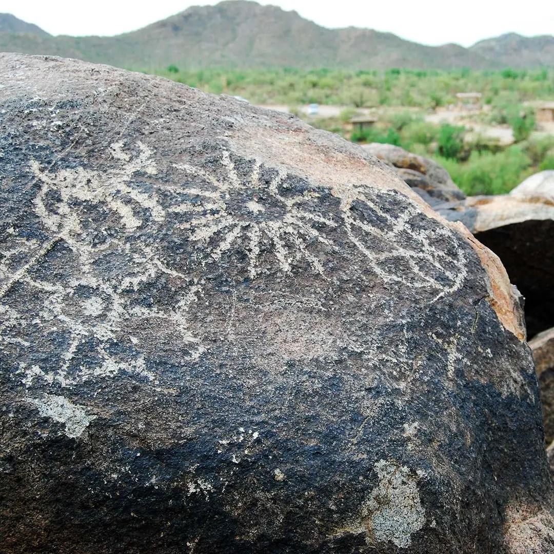 Petroglyphs in Saguaro National Park West.