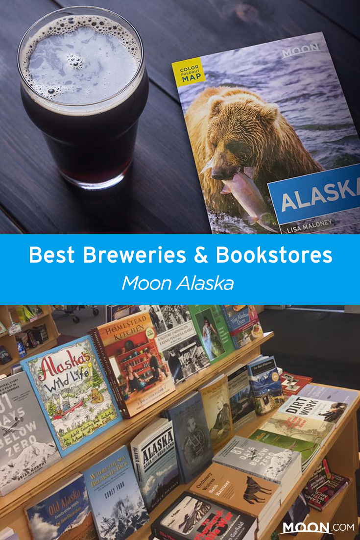alaska bookstores and breweries pinterest graphic