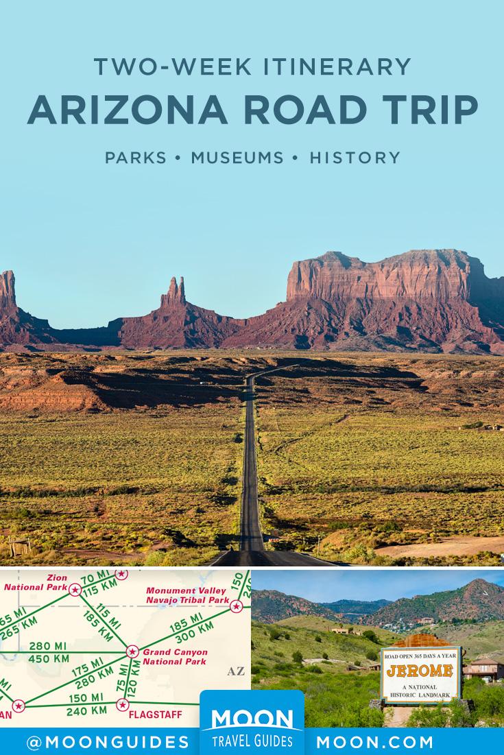 Arizona Road Trip Pinterest graphic