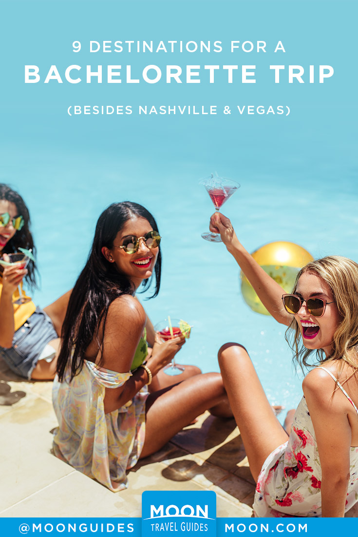 Bachelorette Trip Destinations Pinterest graphic