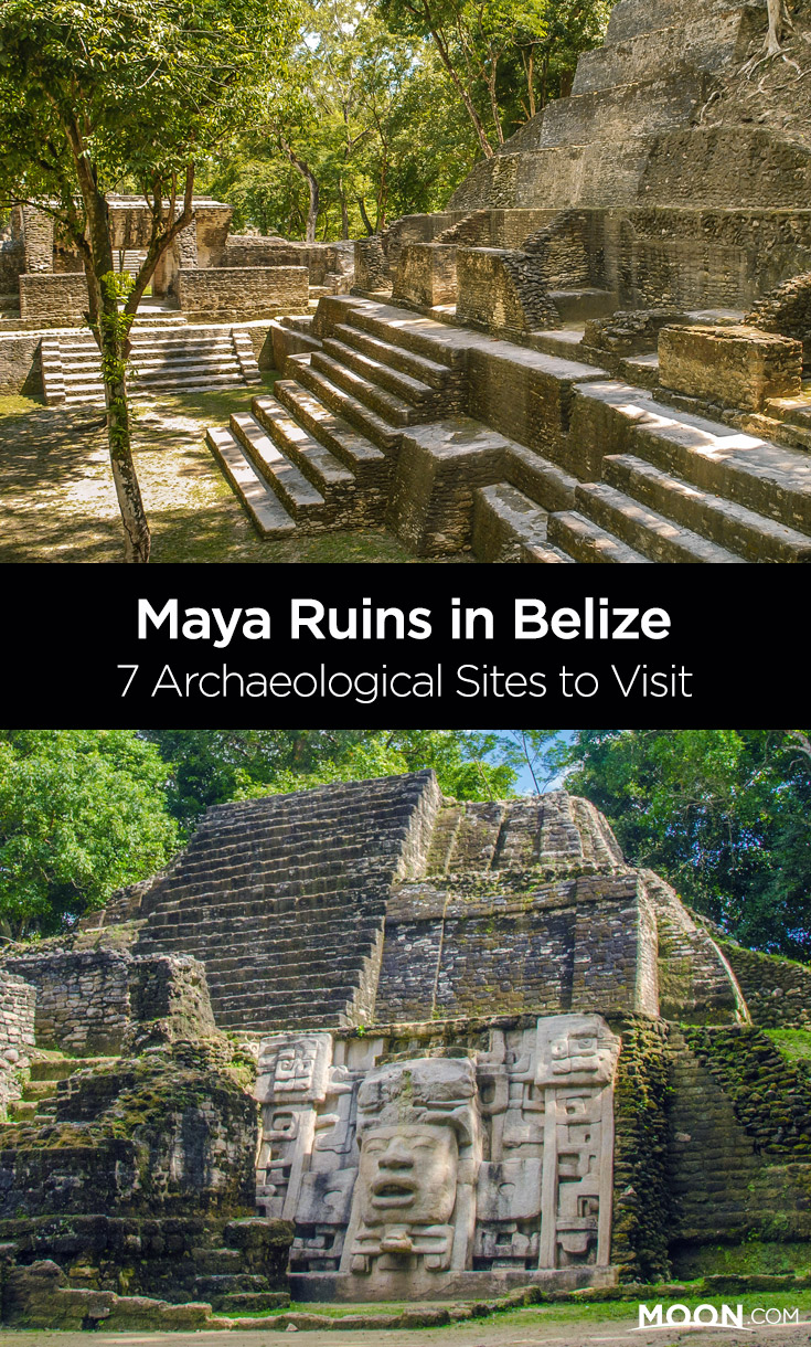 maya ruins in belize pinterest graphic