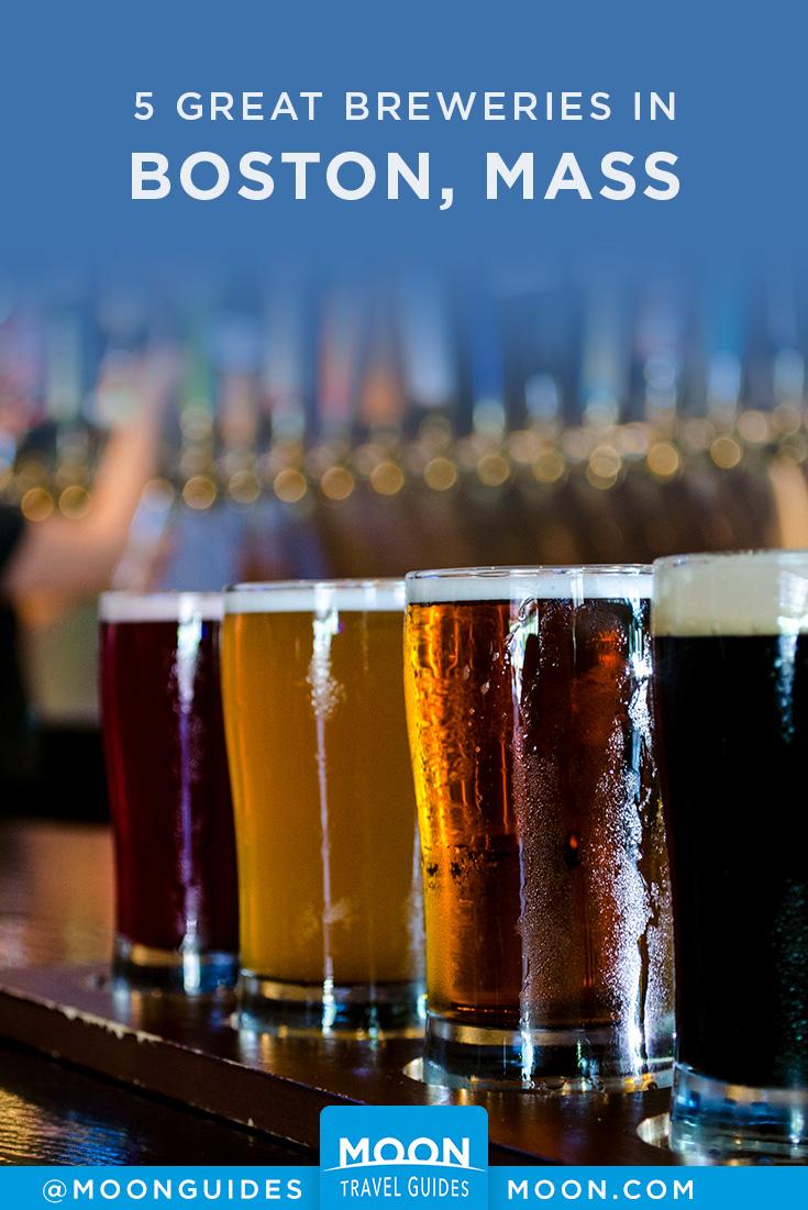 Boston Breweries Pinterest graphic